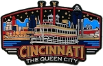 Cincinnati Ohio the Queen City Skyline Fridge Magnet