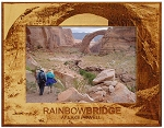 Rainbow Bridge at Lake Powell Laser Engraved Wood Picture Frame