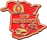 New Brunswick Map Fridge Magnet