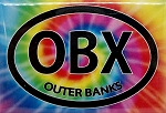 Outer Banks North Carolina Tie Dye Fridge Magnet