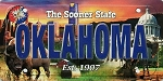 Oklahoma The Sooner State License Plate Souvenir Fridge Magnet