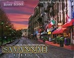 Savannah Georgia River Street Fridge Magnet
