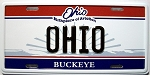 Ohio the Buckeye State License Plate Novelty Fridge Magnet