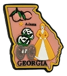 Georgia Atlanta Multi Color Fridge Magnet