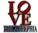 Philadelphia Love Jeweled Fridge Magnet