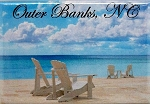 Outer Banks North Carolina-Beach Scene Fridge Magnet