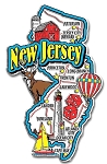 New Jersey Jumbo Map Fridge Magnet