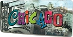 Chicago Montage 3D Fridge Magnet