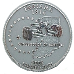 Indiana State Quarter Fridge Magnet