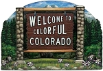 Colorado State Welcome Sign Artwood Fridge Magnet