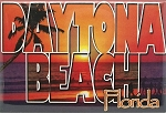 Daytona Beach Florida Block Style Fridge Magnet
