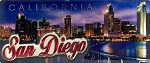 San Diego California Foil Panoramic Fridge Magnet