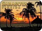 Sarasota Florida Beach Scene Fridge Magnet