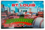 Saint Louis Missouri Busch Stadium Glass Fridge Magnet