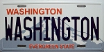 Washington State License Plate Novelty Fridge Magnet