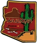 Arizona Multi Color Fridge Magnet