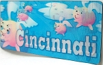 Cincinnati Where Pigs Fly 3D Fridge Magnet
