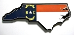North Carolina with State Flag Design Decowood Fridge Magnet Design 10