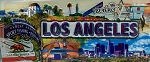 Los Angeles with Raised Icon Fridge Magnet