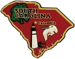 South Carolina Multi Color Fridge Magnet
