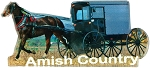 Amish Country with Horse and Buggy Acrylic Fridge Magnet