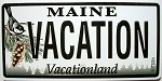 Maine License Plate Novelty Fridge Magnet