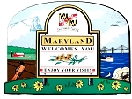 Maryland State Welcome Sign Decowood Fridge Magnet