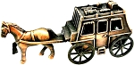 Stage Coach with Horse Die Cast Metal Collectible Pencil Sharpener