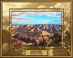Grand Canyon National Park with Border Laser Engraved Wood Picture Frame