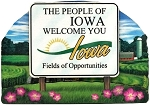 Iowa State Welcome Sign Artwood Fridge Magnet