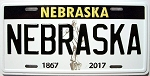 Nebraska State License Plate Novelty Fridge Magnet