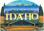 Idaho State Welcome Sign Artwood Fridge Magnet