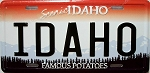 Idaho State License Plate Fridge Magnet