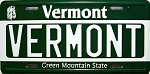 Vermont State License Plate Novelty Fridge Magnet