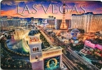 Las Vegas Strip above Bellagio Sign Double Sided 3D Key Chain