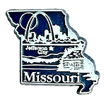 Missouri Jefferson City United States Fridge Magnet