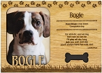 Bogle Engraved Wood Picture Frame Magnet