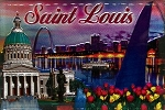 Saint Louis Missoui Gateway to the West Fridge Magnet and Magnetic Picture Frame