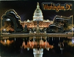 The White House at Night Washington D.C. Highlight Fridge Magnet