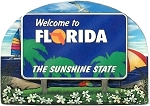 Florida State Welcome Sign Artwood Magnet