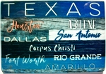 Texas Cities Porcelain Fridge Magnet Design 25