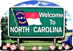 North Carolina State Welcome Sign Artwood Fridge Magnet