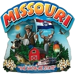 Missouri Montage Artwood Fridge Magnet