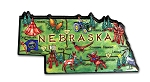 Nebraska the Cornhusker State Artwood Jumbo Fridge Magnet