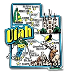 Utah Jumbo Map Fridge Magnet