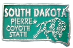 South Dakota The Coyote State Souvenir Fridge Magnet