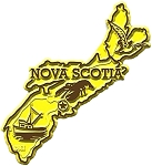Nova Scotia Map Fridge Magnet