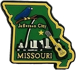 Missouri Jefferson City Multi Color Fridge Magnet