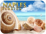Naples Florida Shells and Ships Fridge Magnet