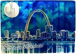 St. Louis Missouri Foil Fridge Magnet